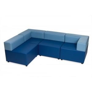 Куб: диван трехместный угловой