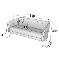 Зара: диван трехместный